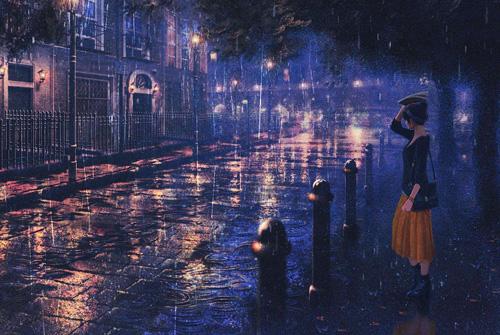 下雨天的心情说说伤感 下雨了想发个朋友圈