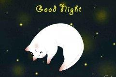 一句话致自己晚安 对自己说一声晚安说说