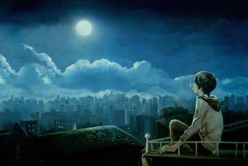 一个人的夜晚说说-有关一个人的夜晚心情说说